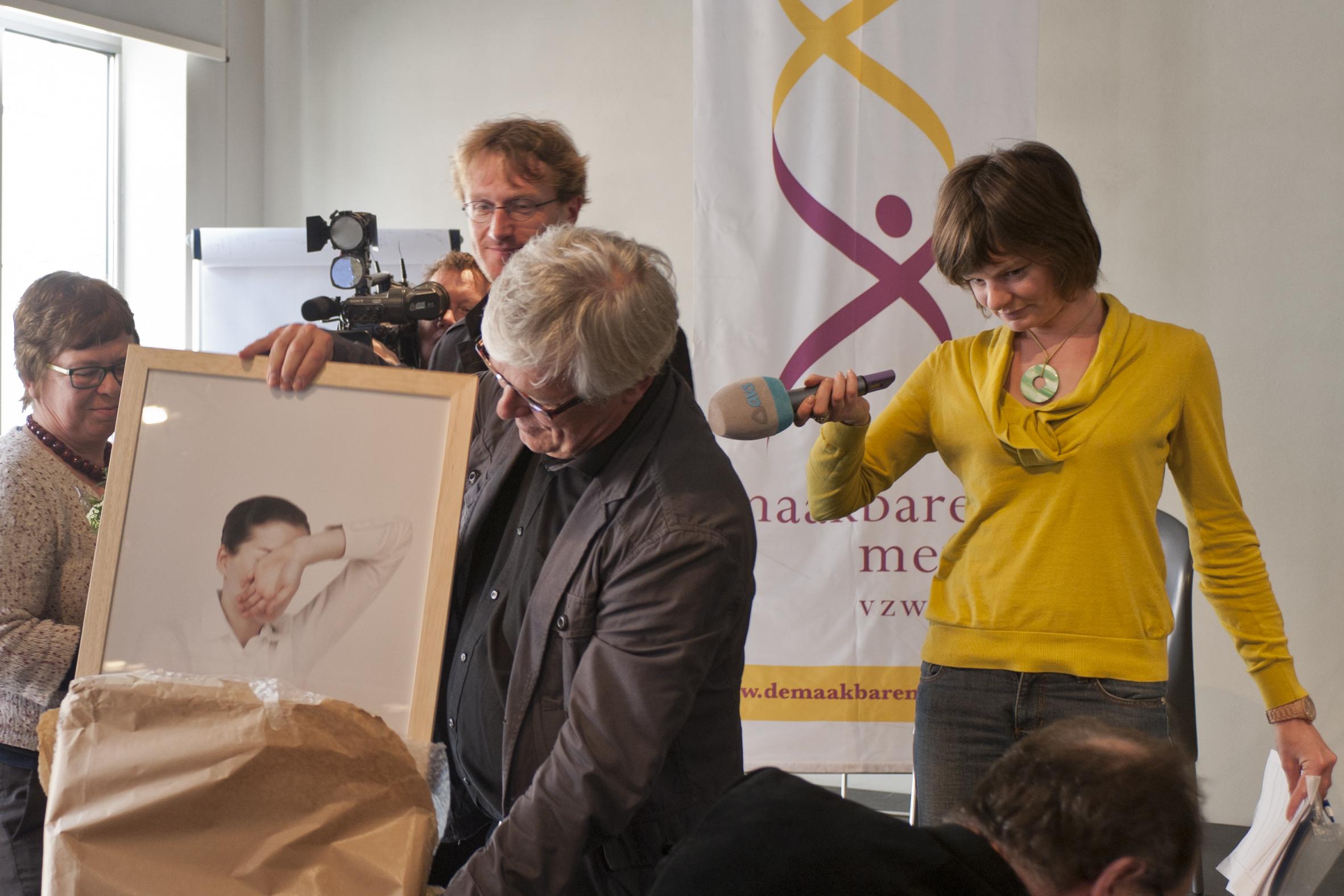 Prijs De Maakbare Mens 2012 uitgereikt aan P. Allegaert en A. Caillau (Museum dr. Guislain)