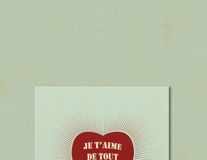Brochure 'Je t'aime de tout mon coeur'