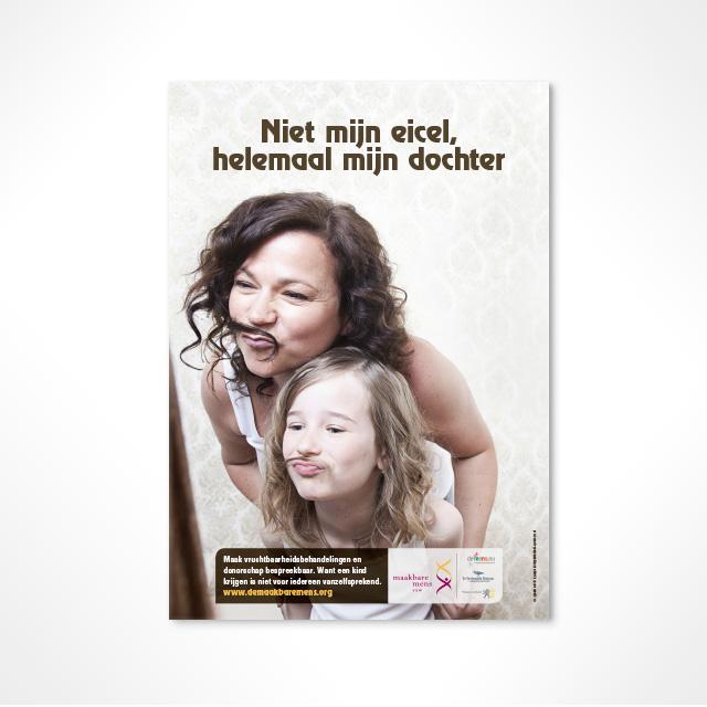 Affiche 'Niet mijn eicel, helemaal mijn dochter'