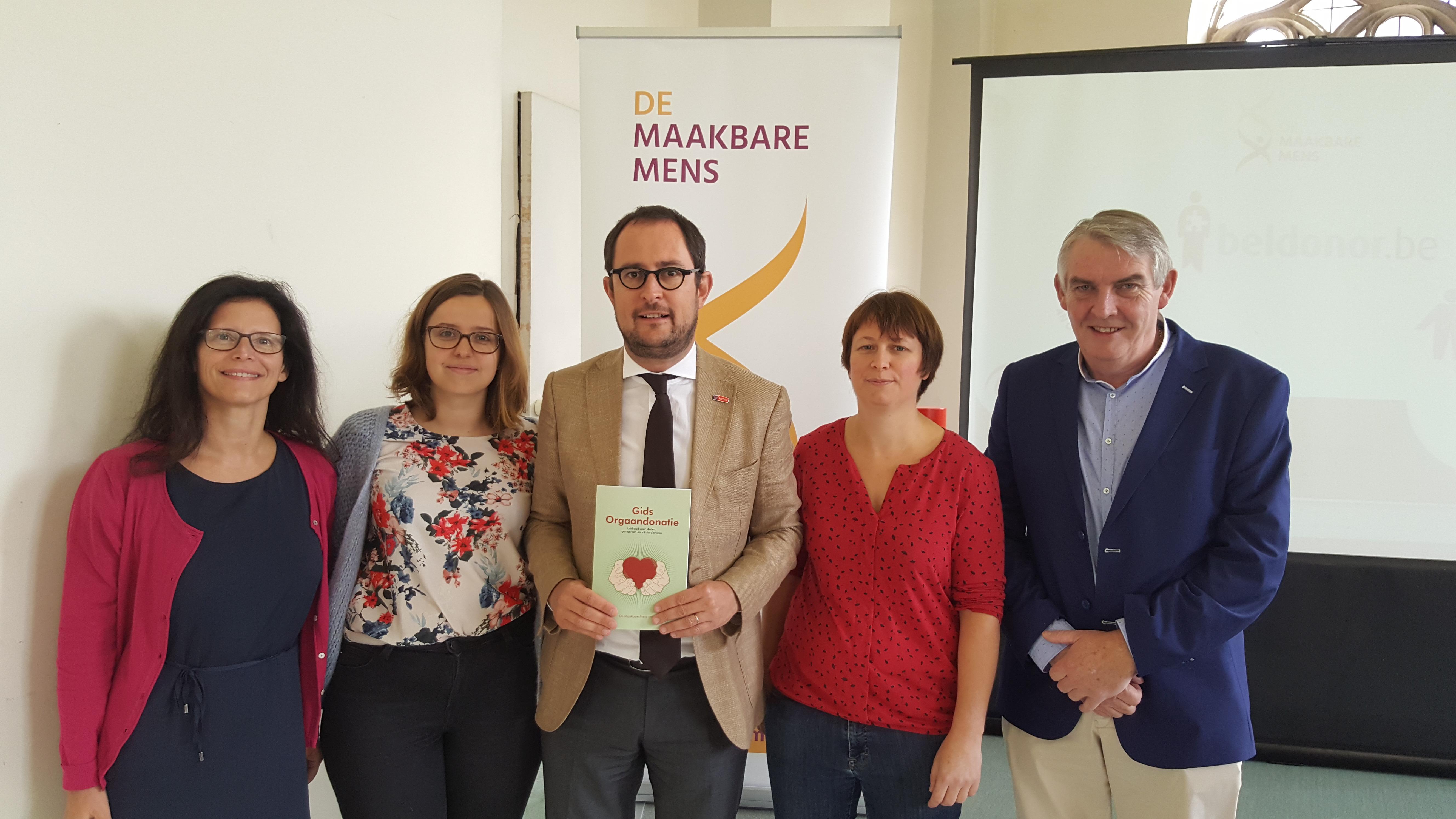 Voorstelling Gids orgaandonatie voor steden, gemeenten en lokale diensten