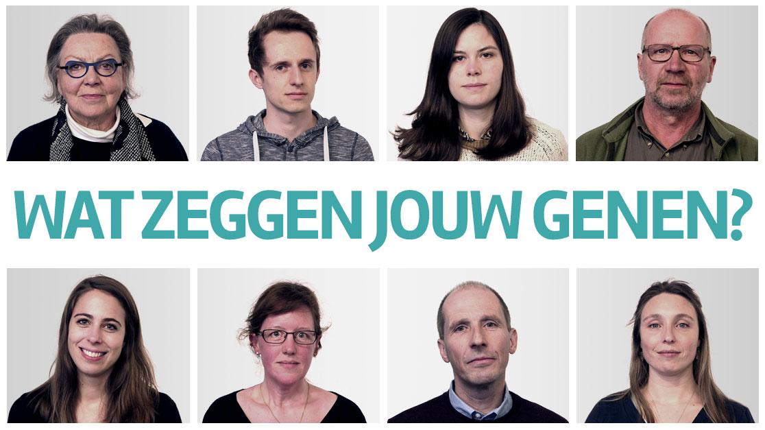 8 deelnemers. Wie doet de genoomanalyse en wie niet?