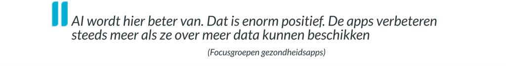 citaat focusgroep gezondheidsapps wat zijn jouw data waard?
