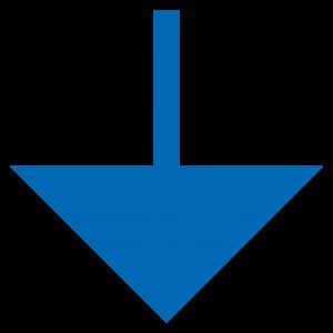 pijl onder - donkerblauw