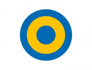 Tegel_wit cirkels geel blauw
